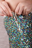 Flared Sequin Pants  image