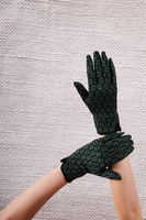 Diamond Floral Motif Gloves image