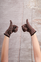 Burgundy Geometric Pattern Gloves image