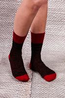 Red and Black Lurex Socks  image