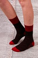 Calze Lurex rosse e nere image