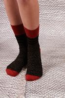 Brick and Black Lurex Socks  image