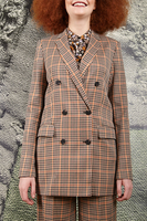 Long tailored check blazer  image