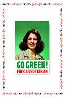 Go Green F*** A Vegetarian Card  image