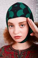 Green Fan Print Balaclava  image