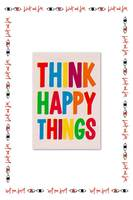 Think Happy Things Postcard  image
