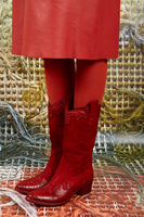Red Suede Cowboy Boots image