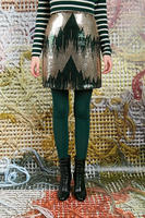 Mini skirt with bottle green graphic sequins  image
