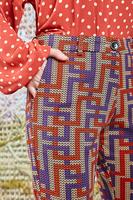 Pants in Geometric Printed Jersey  image