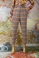 Plaid pants with high waist  image