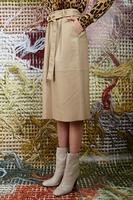 Beige Leather Skirt  image
