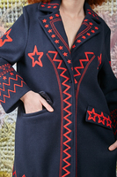 Coat with star embroidery  image