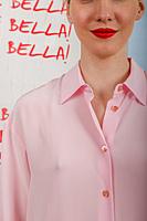 Silk short sleeved shirt  image