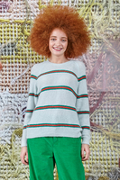 Mint sweater with stripes  image