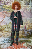 Embroidered coat with fringe details  image