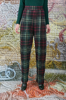 Pants in plaid knit  image