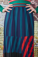 Pleated skirt with stripes  image
