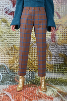 Checked tailored pants  image
