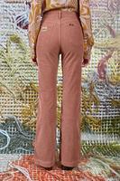 Mocha flared pants in corduroy  image