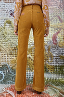 Tobacco flared pants in corduroy  image