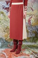 Wrap skirt in burgundy knit image