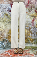 Ivory wide leg pants in corduroy  image