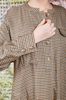 Check tunic dress with statement pockets  image
