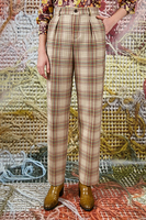 Check pants with lurex  image