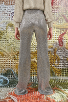 Silver pants in sequins  image