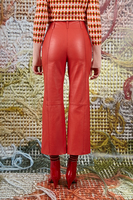 Leather cropped pants  image