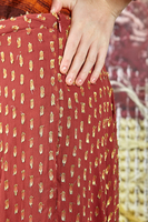 Circle skirt in metallic fils coupé georgette  image