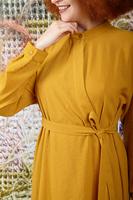 Mustard asymmetrical Shirtdress  image
