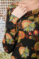 Paisley floral printed sweater  image