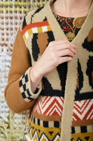 Knit Coat in Mixed Patterns  image