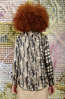 Blouse with painterly graphic print  image
