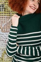 Cashmere turtleneck with stripes  image