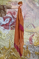 Wool Scarf with Geometric Pattern image