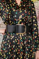 Cintura in pelle nera larga image