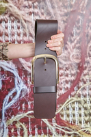 Chocolate Wide Leather Belt  image