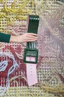 Bottle Green Crocodile Print Wide Belt  image