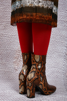Snakeskin print ankle boots  image