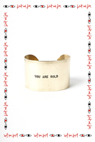 You are gold cuff image