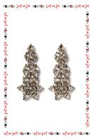Statement crystal drop earrings  image