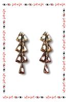 Coloured crystal drop earrings  image