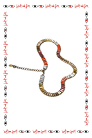 Short necklace in mixed coloured crystals  image