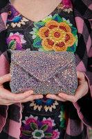 Glitter envelope crossbody bag image