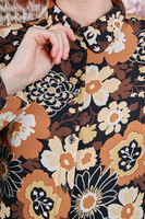 Shirt with brown floral print  image