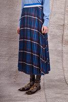 Pleated skirt with plaid print image