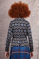 Blazer with geometric floral motifs   image