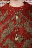 Long necklace with snake talisman pendant  image